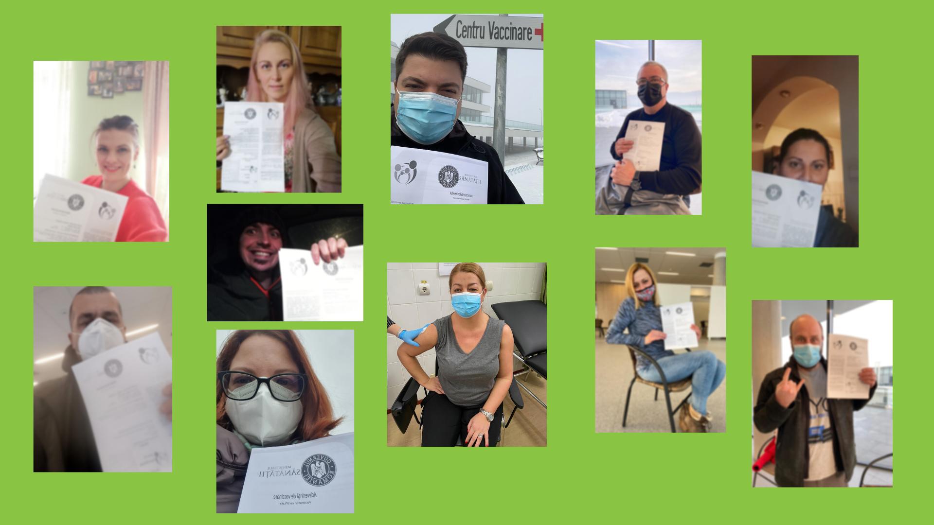 TASTE Vaccination Selfie Collage