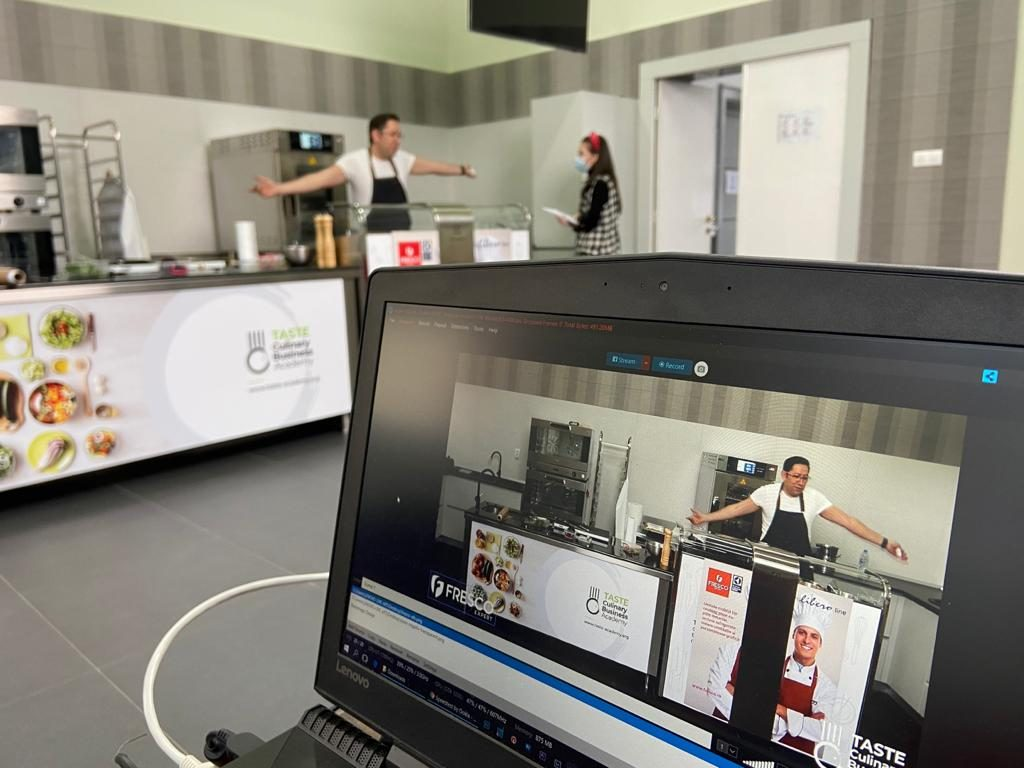 camera testing with chef before webinar goes live